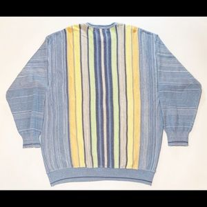 Norm Thompson striped colorful sweater
